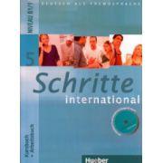 Schritte International 5 Kursbuch + Arbeitsbuch + CD Niveau b1 / 1 ( Editura: Hueber ISBN 978-3-9-001855-0 )