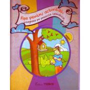 Fise pentru activitati integrate pe proiecte tematice 5 -6 ani ( Editura: Trend, Autor: Elena Bolanu ISBN 978-606-8664-02-6 )