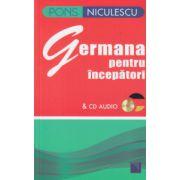 Germana pentru incepatori PONS cu CD audio ( Editura: Niculescu, ISBN 978-973-748-677-6 )