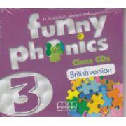 Funny phonics 3 Class CD's British Version ( Editura MM Publications, Autor: H. Q. Mitchell, Marileni Malkogianni ISBN 9789604788804 )
