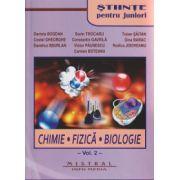 Stiinte pentu juniori, Chimie, Fizica, Biologie, Volumul I + II ( Editura: Mistral, Autor: Daniela Bogdan, Sorin Trocaru, Mariana Grosu ISBN 978-606-8338-15-6 )