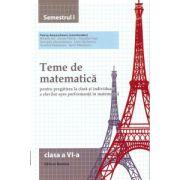 Teme de matematica pentru clasa a VI-a semestrul I ( Editura: Nomina, autor: Petrus Alexandrescu, ISBN 978-606-535-655-9 )