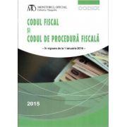 Codul Fiscal si Codul de Procedura Fiscala - in vigoare de la 1 ianuarie 2016 ( editura: Monitorul Oficial, ISBN 978-973-567-914-9 )