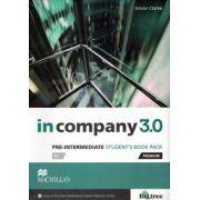 In Company 3. 0 Pre Intermediate Student's book pack ( editura: Macmillan, autor: Simon Clarke, ISBN 978-0-230-45511-5 )