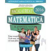 Matematica - M_Stiintele-naturii, M_Tehnologic - BAC 2016 - teme recapitulative, 72 de teste ( editura: Paralela 45, autor: Mihai Monea, Steluta Monea, Ioan Serdean, Adrian Zanoschi, ISBN 978-973-47-2158-0 )