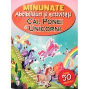 Cai, ponei si unicorni - 50 abtibilduri ( editura: Flamingo, ISBN 978-606-713-014-0 )