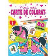 Prima mea carte de colorat 1 - cu 80 de abtibilduri ( editura: Flamingo, ISBN 978-606-8555-04-1 )