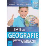 Teste de Geografie pentru Gimnaziu clasa a V a ( Editura: Didactica Publishing House, Autor: Dorina Cheval, Adina Serban, Constantin Dinca, Viorel Paraschiv, Ionut Enache ISBN 978-606-683-386-1 )