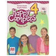 Happy Campers 4 Student 's Book + The Language Lodge ( editura: Macmillan, Autor: Patricia Acosta, Angela Padron ISBN 978-0-230-47110-8 )