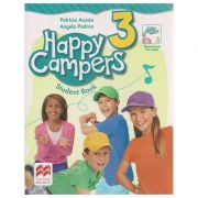 Happy Campers 3 Student's Book + The Language Lods ( Editura: Macmillan, Autor: Patricia Acosta, Angela Padron ISBN 978-0-230-47072-9 )