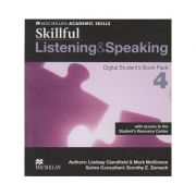 Skillful Listening & Speaking Digital Student s Book Pack 4 with access to the Student s Resource Center ( Editura: Macmillan, Autor: Lindsay Clandfield, Mark McKinnon ISBN 9780230489561 )