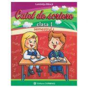 Caiet de scriere clasa I semestrul I ( CD )( Editura: Carminis, Autor: Luminita Minca ISBN 978-973-123-288-1 )