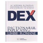 Dictionarul explicativ al limbii romane 2016 (DEX) ( Editura: Univers Enciclopedic ISBN 978-606-704-161-3 )