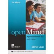 Open Mind Digital Student s Book Pack Starter Level Starter Second Edition ( Editura: Macmillan, Autor: Dorothy E. Zemach ISBN 9780230495029 )