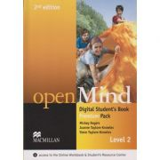 Open Mind Digital Student s Book Premium Pack Level 2 Second Edition ( Editura: Macmillan, Autor: Mickey Rogers, Joanne Taylore-Knowles, Steve Taylore-Knowles ISBN 9780230495128 )