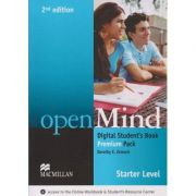 Open Mind Digital Student s Book Premium Pack Level Starter Second Edition ( Editura: Macmillan, Autor: Dorothy E. Zemach ISBN 978-0-230-49501-2 )