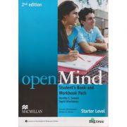 Open Mind Student s Book and Workbook Pack Starter Level Second Edition + DVD and Audio CD ( Editura: Macmillan, Autor: Dorothy E Zemach, Ingrid Wisniewska ISBN 978-0-230-45889-5 )