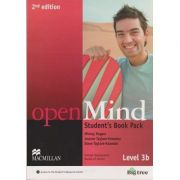Open Mind Student s Book Pack Level 3 B Second edition +DVD ( Editura: Macmillan, Autor: Mickey Rogers, Joanne Taylore-Knowles, Steve-Taylore-Knowles ISBN 978-0-230-45974-8 )