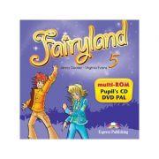 Curs lb. engleza Fairyland 5 – MULTI-ROM 978-1-78098-921-1 ( Editura: Express Publishing, Autor: Jenny Dooley, Virginia Evans ISBN 9781780989211 )