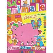 Animale de la ferma carte de colorat ( Editura: Lizuka Educativ ISBN 9786068714035 )