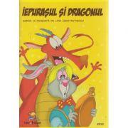 Iepurasul si Dragonul carte de citit si colorat ( Editura: Lizuka Educativ, Autor: Liviu Constantinescu ISBN 978-606-93136-8-8 )
