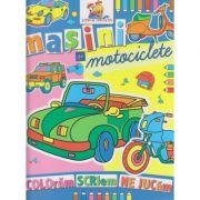 Masini si motociclete carte de colorat ( Editura: Lizuka Educativ ISBN 9786068714103 )