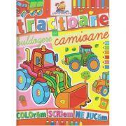 Tractoare, buldozere si camioane, carte de colorat ( Editura: Lizuka Educativ ISBN 978-606-8714-09-7 )