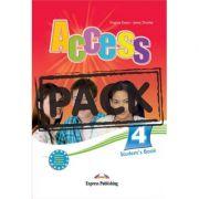 Curs limba engleza Access 4 Pachetul elevului ( Manual + IeBook) ( Editura: Express Publishing, Autor: Virginia Evans, Jenny Dooley ISBN 978-1-78098-054-6 )
