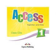 Curs limba engleză Access 1 Audio CD la manual (set 3 CD-uri) ( Editura: Express Publishing, Autor: Virginia Evans, Jenny Dooley ISBN 978-1-84679-473-5 )