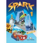 Curs lb. engleza SPARK 1 Monstertrackers – Manualul elevului ( Editura: Express Publishing, Autor: Virginia Evans, Jenny Dooley ISBN 978-1-84974-667-0 )