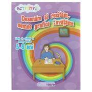 Desenam si recitam, semne grafice invatam! Carte de colorat cu semne grafice 5-6 ani ( Editura: Trend, Autor: Neacsu Ilinca ISBN 978-606-8664-53-8 )