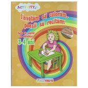 Invatam sa coloram, poezii sa recitam! Carte de colorat cu abtibilduri 3-4 ( Editura: Trend, Autor: Ilinca Neacsu ISBN 9786068664514 )
