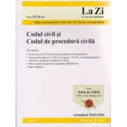 Codul civil si Codul de procedura civila 20. 03. 2016 ( Editura: C. H. Beck ISBN 978-606-18-0551-8 )