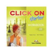 Curs limba engleză Click on Starter Audio CD pentru caietul elevului ( Editura: Express Publishing, Autor: Virginia Evans, Neil O Sullivan ISBN 978-1-84325-751-6 )