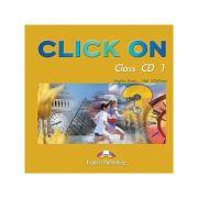 Curs limba engleză Click on 3 Audio CD (set 5 CD) ( Editura: Express Publishing, Autor: Virginia Evans, Neil O Sullivan ISBN 978-1-84216-731-1 )