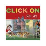 Curs limba engleză Click on 1 Audio CD (set 4 CD) ( Editura: Express Publishing, Autor: Virginia Evans, Neil O Sullivan ISBN 9781842166901 )
