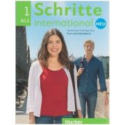 Schritte international Kurs-und Arbeitsbuch Neu Nr. 1 A1. 1 Zum CD ( Editura: Hueber, Autor: Daniela Niebisch, Sylvette Penning-Hiemstra, Franz Specht ISBN 978-3-19-301082-7 )