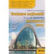 Evaluare Nationala in 25 de saptamani matematica 2017 ( Editura: Sigma, Autor: O. Badescu, M. Cimpoesu ISBN 978-606-727-166-9 )