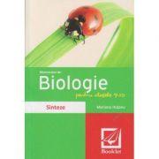 Memorator de Biologie pentru clasele 9-10 Sinteze (Editura: Booklet, Autor: Mariana Hutanu ISBN 978-606-590-288-6 )