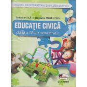 Educatie civica Manual pentru clasa a IV-a Semestrul I + Semestrul II(PITILA)+CD MULTIMEDIA ( Editura: Aramis, Autor: Tudora Pitila, Cleopatra Mihailescu ISBN 978-606-706-340-0 )