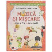 Muzica si miscare Manual pentru clasa a IV-a Semestrul I + Semestrul II + CD MULTIMEDIA ( Editura: Aramis, Autor: Dumitra Radu, Alina Pertea ISMN 979-0-9009901-1-2 )