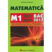 Matematica Subiecte rezolvate M1 Bacalaureat 2017 ( Editura: Carminis, Autor: Ion Bucur Popescu ISBN 978-973-123-116-7 )