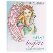 Mesaje de la Ingeri carte de colorat ( Editura: Curtea Veche, Autor: Doreen Virtue ISBN 978-606-588-951-4 )