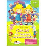 Caiet de lecturi recomandate Clasa I ( editura: Aramis, autor: Maria Vantu ISBN 978-606-706-180-2 )
