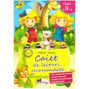 Caiet de lecturi recomandate Clasa a II-a ( editura: Aramis, autor: Maria Vantu ISBN 978-606-706-178-9 )
