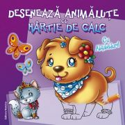 Deseneaza animalute cu hartie de calc. Cu abtibilduri! ( Editura: Nomina ISBN 9786065357532 )