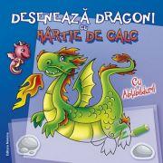 Deseneaza dragoni cu hartie de calc. Cu abtibilduri! ( Editura: Nomina ISBN 978-606-535-752-5 )