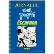 Jurnalul unui pusti vol 12. Escapada ( Editura: Arthur, Autor: Jeff Kinney, ISBN 978-606-788-289-6 )