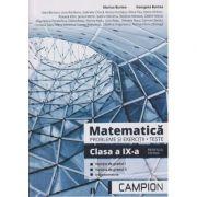 Matematica. Probleme si exercitii. Teste Clasa a IX-a Profilul Tehnic ( Editura: Campion, Autori: Marius Burtea, Georgeta Burtea ISBN 9786068952093 )