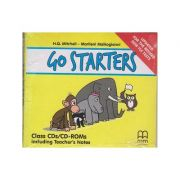 Go Starters Class CDs/CD-ROMs. Including Techer's Notes. Updates For The Revised 2018 YLE Tests ( editura: MM Publications, autori: H. Q. Mitchell, Marileni Malkogianni, ISBN 978-618-05-1965-5 )